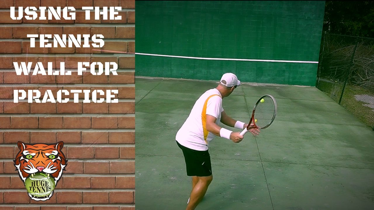 How To Practice Alone In Tennis Tennis Practice Wall Youtube