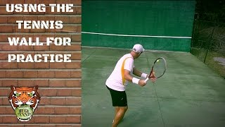 How To Practice Alone in Tennis | Tennis Practice Wall