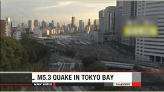 NHK Releases Video of Tokyo 5.3 Magnitude Quake 9/11/15