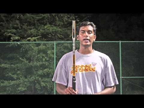 Tennis - Holding the racquet is explained in Tamil
