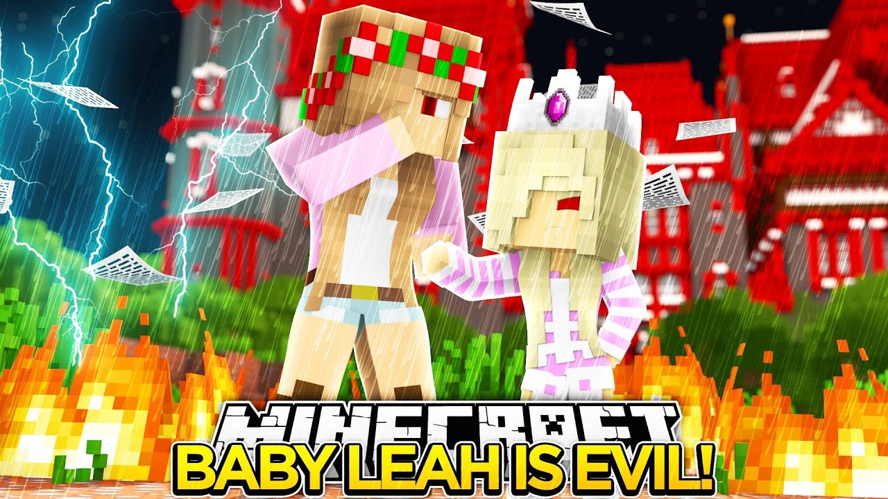 EVIL LITTLE KELLY MAKES BABY LEAH EVIL w/ LITTLE DONNY!!!- Minecraft
