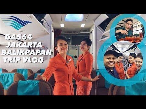Garuda Indonesia GA564 Jakarta - Balikpapan | Flight VLOG dan Work Trip Seru!