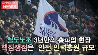 [소비자경제TV - NEWS] 철도노조 3년만의 총파업…