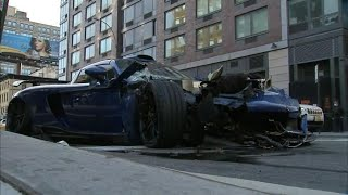 Gemballa Mirage Crash in NYC, MSRP $780,000 - Breaking News - All Footage