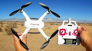 DM009 HC Conqueror Long Flying Altitude Hold Camera Drone Flight Test Review