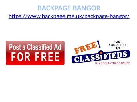 Backpage bangor me