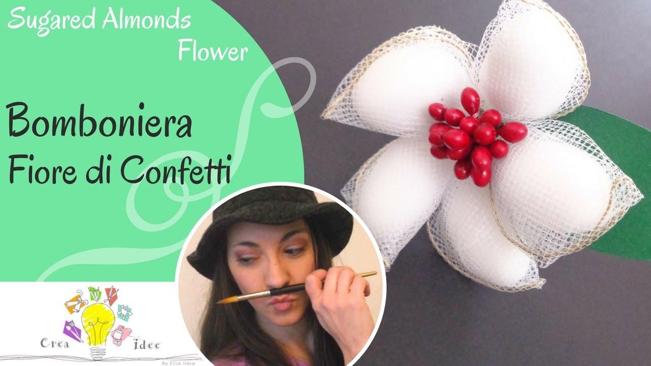 Molto Bomboniera a fiore - Tutorial DIY di Creaidee - YouTube ZL57