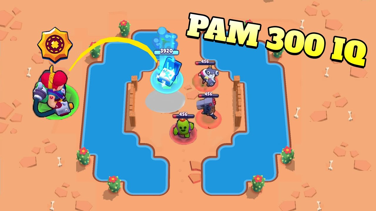Pam 300 IQ vs 0 IQ Team!!! Brawl Stars Funny Moments and Wins and Fails #173