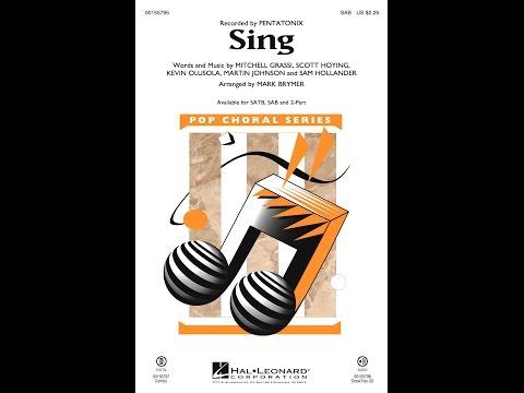 Sing (SAB) - Arranged by Mark Brymer