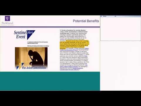 Parkland Health & Hospital System: Universal Suicide Screening Program
