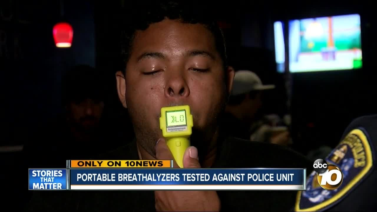 Portable breathalyzers tested against police unit
