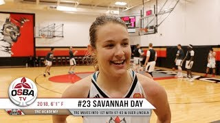 Savannah Day with a clutch AND 1 to lift TRC over Lincoln Prep and move into 1st place!