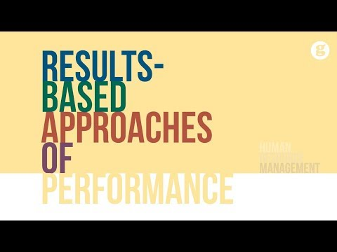 Results-Based Approaches Of Performance