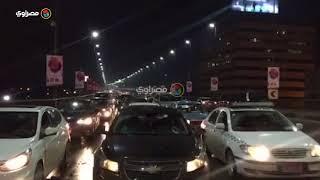 زحام و إغلاق محلات في ثاني أيام الأمطار الرعدية