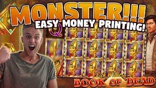 HUGE WIN!! Book of Dead BIG WIN - 10 euro bet (Online slots) from Casino LIVE stream