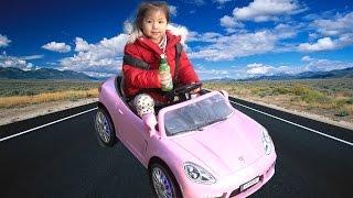 서은이의 즐거운 드라이브!!! 핑크색 전동 자동차 타고 나들이 가기