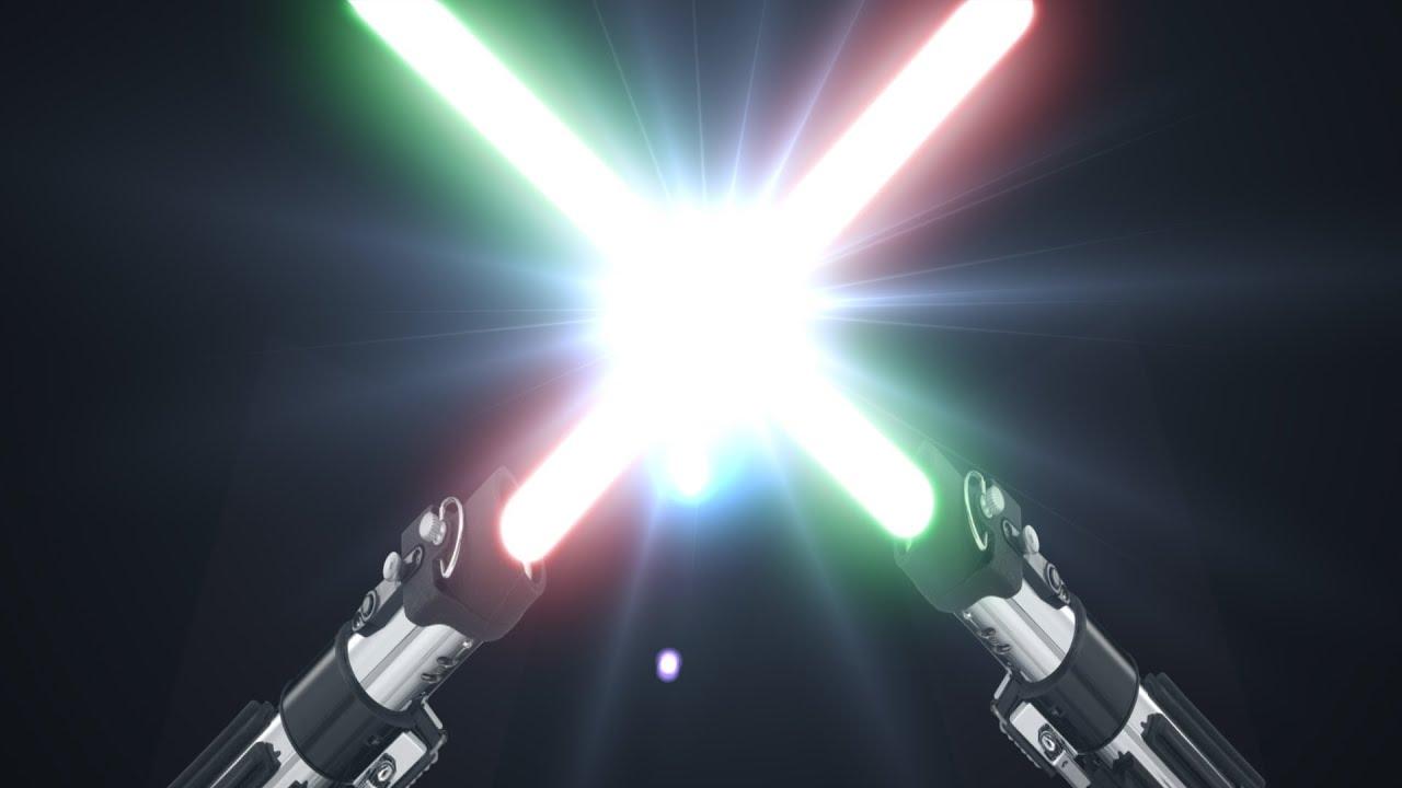 real jedi lightsaber battle youtube