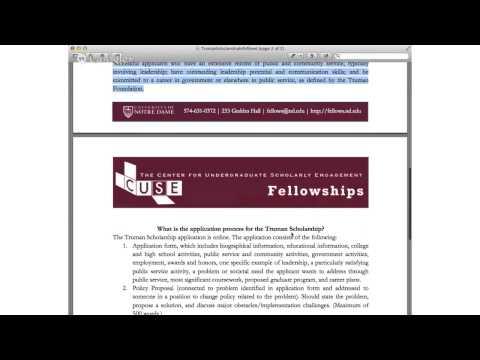 Truman Scholarship Information Session
