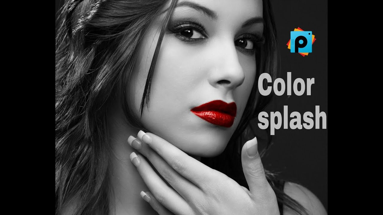 Lipstick Color Is Red Picsart Tutorial How To Use The Color Splash Effect By