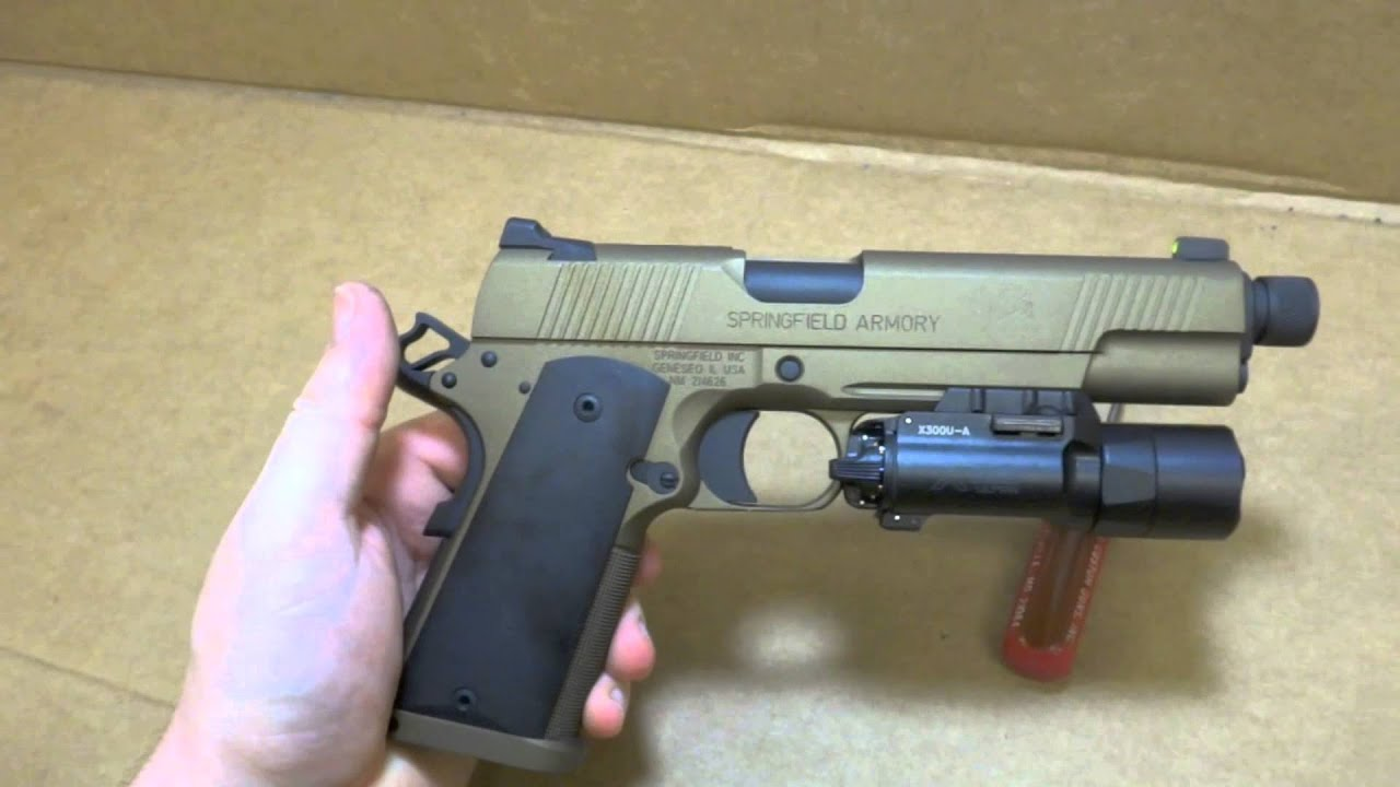 Scr Custom Springfield Armory 1911 Mc Operator With Burnt