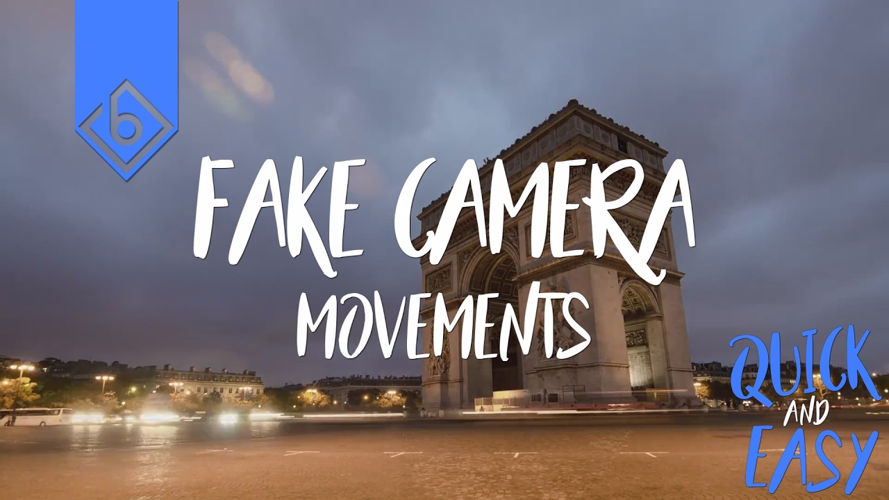 Quick & Easy Way To Create Fake Camera Movements - Sony Vegas Tutorial
