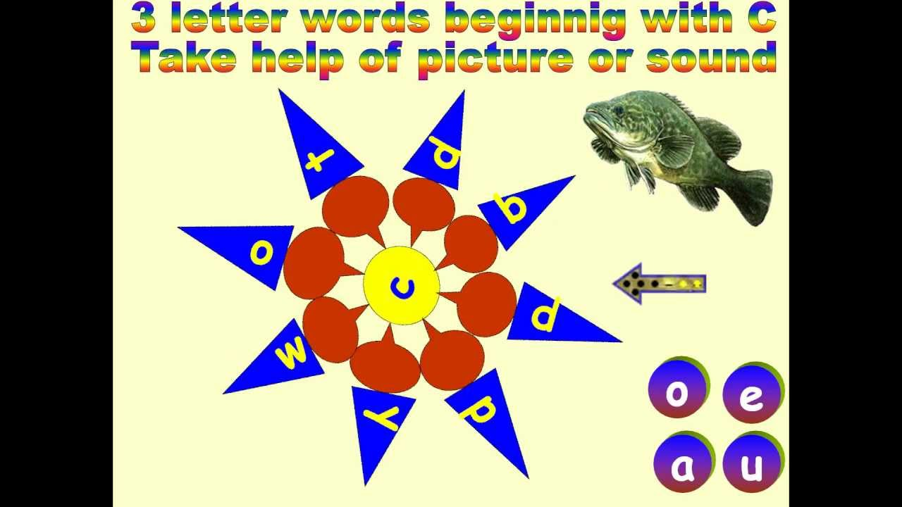 Teach Vowels And 3 Letter Words Beginning With The Letter C Youtube
