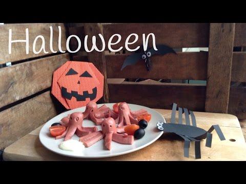 Salchipulpos para Halloween