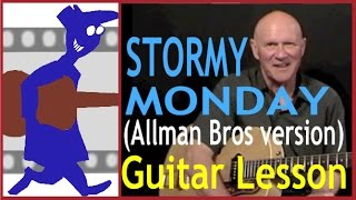 stormy monday allman brothers version guitar lesson