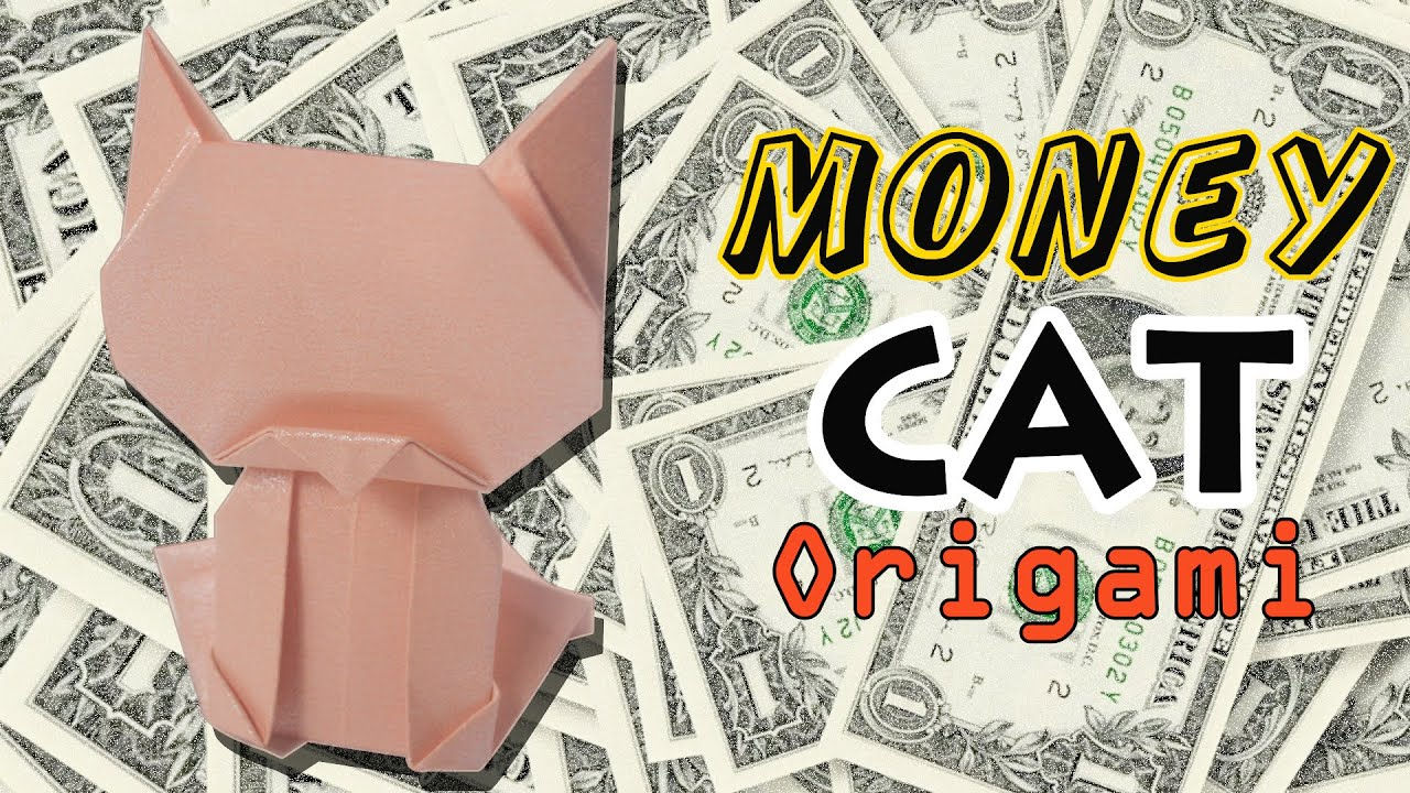 ORIGAMI origami dollar bill cat by yourself LUCKY CAT ... - photo#7