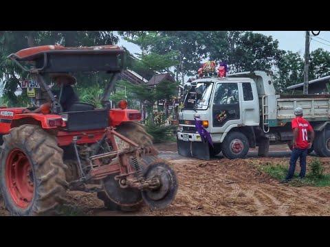 ดู รถ บรรทุกดั้ม หกล้อ ถมที่  รถไถ คูโบต้า ดันดิน truck thailand