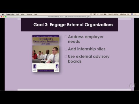The President's Executive Institute Summary 2017-2018