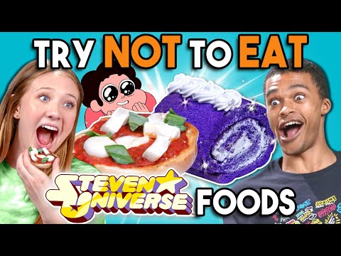 Try Not To Eat Challenge - Steven Universe Food  People Vs Food
