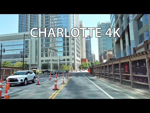 Charlotte 4K - Driving Downtown - North Carolina USA