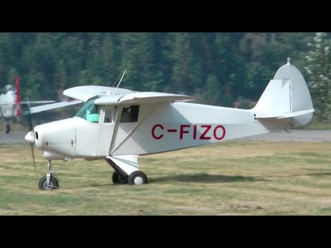 Piper PA-22-108 Colt Landing in Nelson, British Columbia
