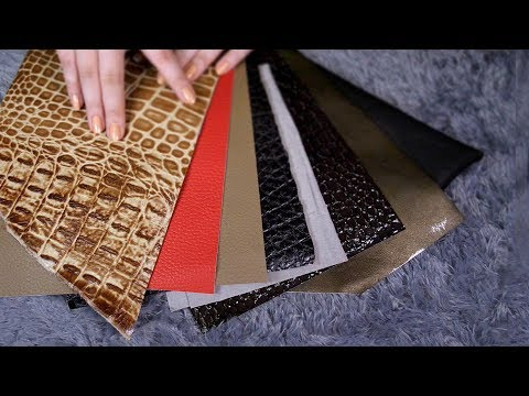 ASMR Gentle Tapping & Scratching with 11 Leathers
