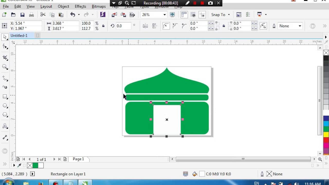 Tutorial membuat Kubah Masjid di corel draw - YouTube