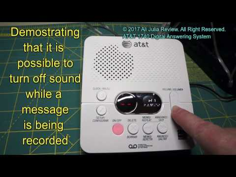AT&T 1740 Digital Answering System - product review