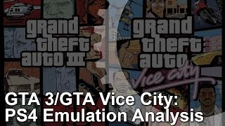 GTA 3/Vice City PS4 vs PS2 Graphics Comparison/Analysis