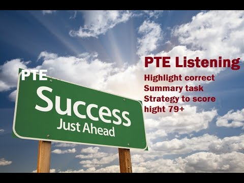 PTE Listening test Strategies to Highlight correct summary question type To Score 79+ and crack PTE