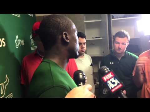 USF DB Kayvon Webster post practice