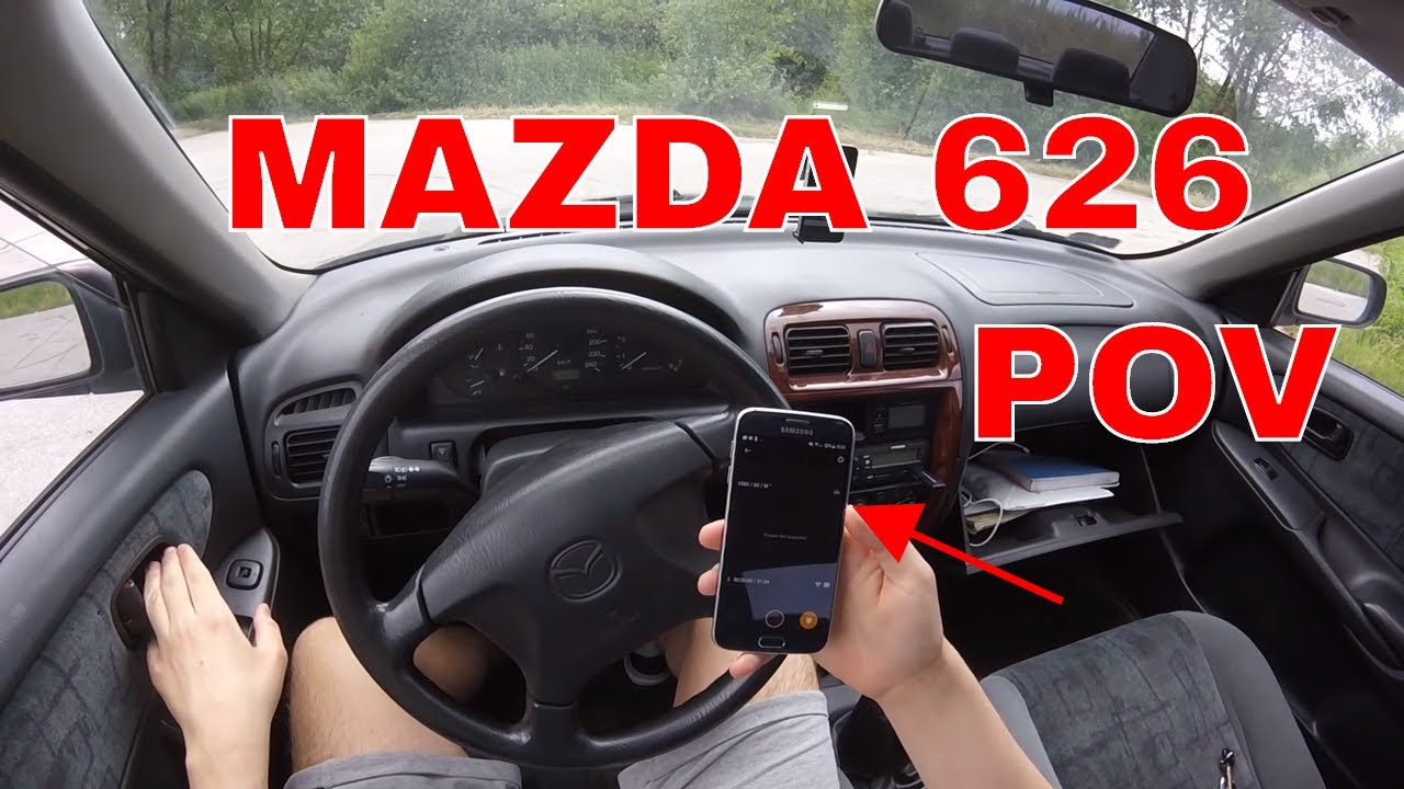 1998 mazda 626 gf sedan 1.8i 90hp | pov driving - youtube