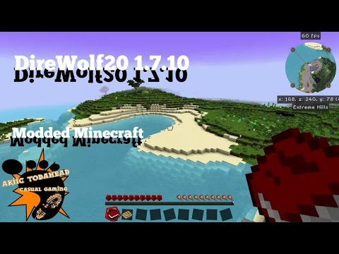 Direwolf 20 with Akiic ToDaHead 1.7.10 E5-  Base Travel System and Smelting