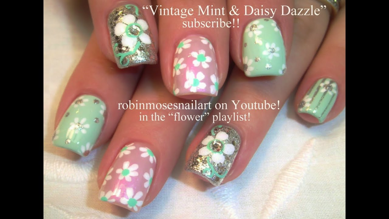 Daisy Nail Art Tutorials Nail Art For Beginners Vintage Daisies