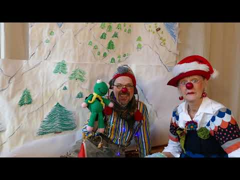 Die Clowns Elfie & Anton auf Schlittenfahrt