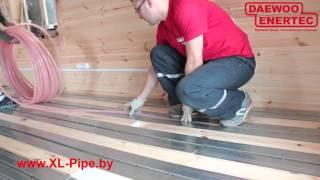видео Теплый пол в деревянных коттеджах