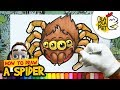 HOW TO DRAW A SPIDER   Halloween Cartoon Drawing   BLABLA ART