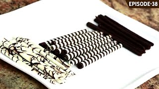 Learn how to make 3 types of basic Chocolate Cigars to decorate and apply on your cakes and desserts