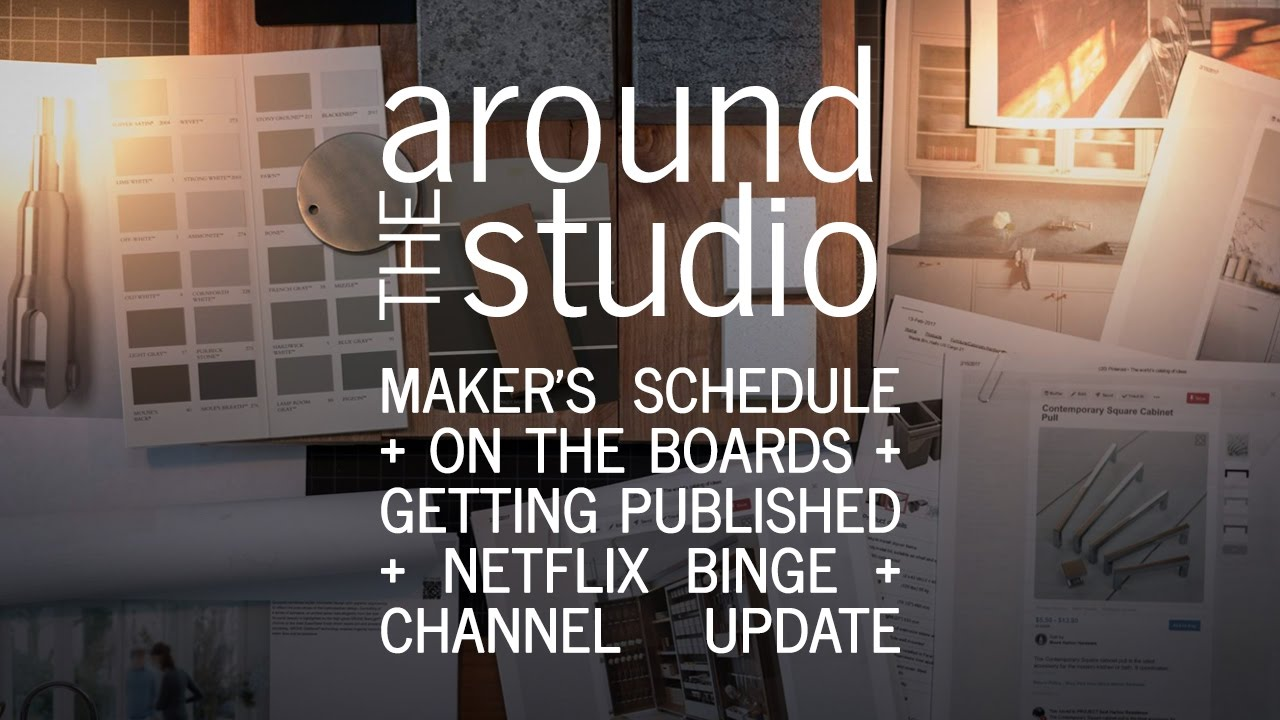 around the architecture studio maker s schedule design getting