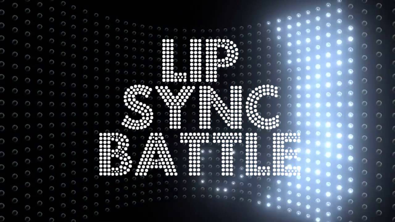Lip Sync Battle Logo With Flashing Lights Motion