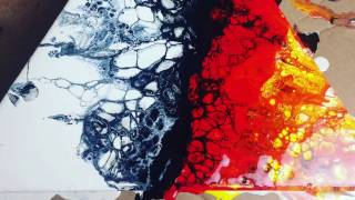 How To Fluid Paint Using The Swipe Method - Luna Creations ASMR visual